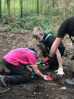 1st Ufton Nervet Scouts plant trees for Englefield Estate