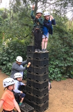Daring stunts for Superhero 1st Woosehill Beavers on Camp